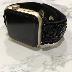 {GRYFFIN}  Apple Watch band crushed stone watch